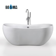 BESMA's custom size adult portable freestanding clear acrylic bathtub;plastic bathtub adults B-7116
