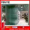 tempered glass frameless bifold door/ folding door without frame