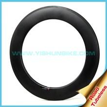 YISHUN Bike 700c Titanium support+Wide aero+210TG Resin 60mm Clincher+Tubeless Rims Road Bicycle Carbon Rim Factory WA8C-TLR