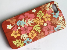 Wooden design your own mobile phone case with handle cover for iphone 6.