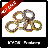 KYOK colorful self-locking curtain eyelet ring, plastic diamond decor curtain grommet, 1 inch metal curtain ring hot selling
