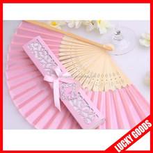 wholesale hot pink wedding favors silk wedding invitation fan