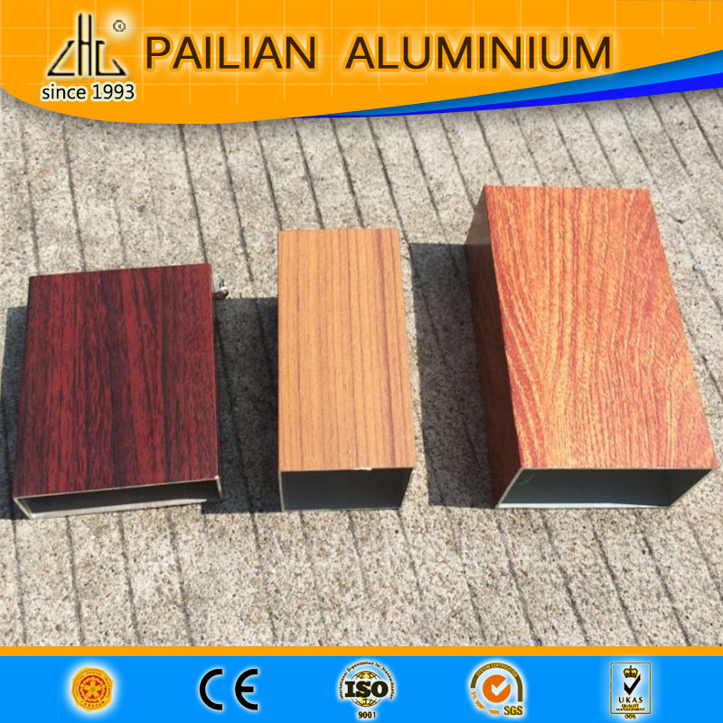 wood grain aluminium tube pipe (185)