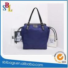 2015 high quality zipper nylon bag fashion ladies nylon handbag wholesale