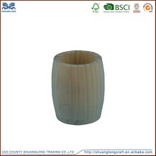 2015 fashion round wooden pen holder/pencil cup, cute pencil cup factory manufacturer