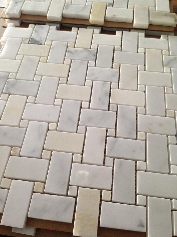 calacatta goud zeshoekige badkamer tegels-mozaïeken-product-ID ...