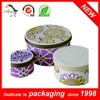 Large Decorative Gift Boxes Round Cardboard Hat Box for Packaging