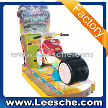 LSJN-014 new promotion coin operated amusement ride fiberglass moto kiddie ride swing game kids vide game for shipping store