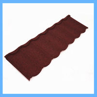 red color stone coated housetop galvalume roofing shingle
