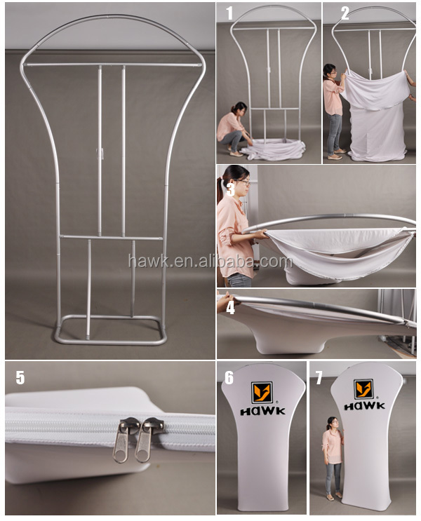 Hawk wholesale Portable Tension Fabric Display Stands 3D-80D