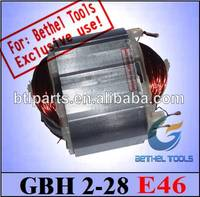 power tools armature stator for BOSCH GBH2-28 power tools rotary hammer drill supplied by factory in China.