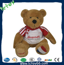 High quality electronic toy voice recorder plush toy teddy bear with T shirt