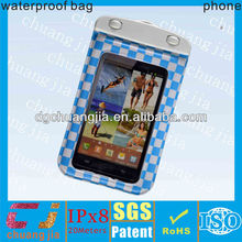 waterproof phone case for samsung i9200 bag with IPX8 certificate