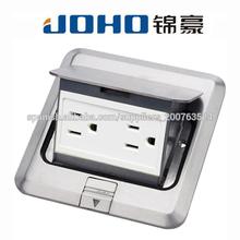 Tipo aluminio Pop-up zócalos de suelo eléctrica con 15A UL Receptáculo dúplex