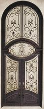 2016 classico di lusso porta di ferro ad arco in alto con finestre di vetro utilizzato per decorazione della chiesa e la protezione popolare negli stati uniti