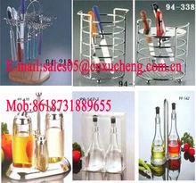metal wine basket for up to 6 bottles