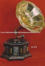 Gramófono nostálgico, la reproducción de antigüedades gramophone, reproductor de gramófono