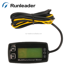 Digital gas engine thermometer tachometer hour meter temperature for gas marine outboard mower motorcycle pit bike generator