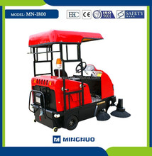 I800 OEM semi-automatic dust collecting machine, mini street cleaner car , robot car cleaning machine