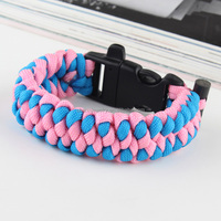 High equality tactical Camping Hiking Emergency Gear Paracord Survival Bracelet BH007