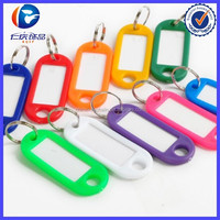 Coloured Plastic Key Fobs Luggage ID Tags Labels Keyrings with Name Cards