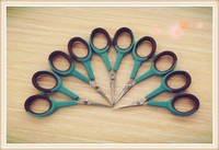 Hot sales high quality Rubber handle Micro tip scissors, fishing scissors, Embroidery Sewing Snips Thread Cutter Scissors