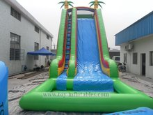 Best special fire truck inflatable water slide