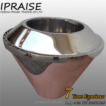 FP6303 600*H700 stainless steel conical flanging vase