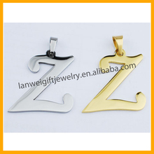 Low Price Hot Sale Simple Design Personalized Different Alphabet Pendant Jewelry Letter Pendant