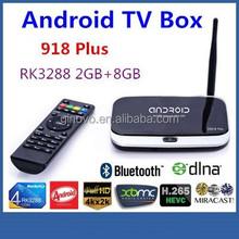 Smart Android TV Box RK3288 Quad Core A17 XBMC Play Store 2GB RAM 8GB ROM WIFI Full HD 1080P XBMC 918 Plus