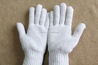 Shangyu natural white cotton knitted work gloves best gloves
