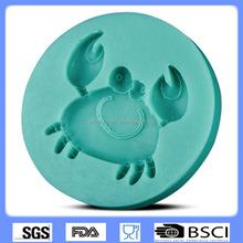 Diy hornear torta herramientas cangrejo mold forma del silicón del chocolate cake decorating molde CD-F369