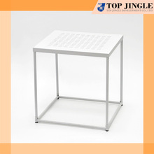 Modern Square Metal Outdoor Short Table