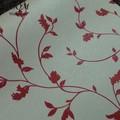 ramita de sauce blanco rojo corea de espesor de vinilo papel pintado