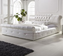 white leather king size bed fancy bed design