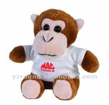 new plush cute small monkey for kids in color T-shirt