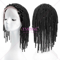 Fashion cheap curly hair brazilian front lace wig
