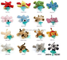 plush toy pacifier/pacifier with plush toy/plush animal toy baby pacifier