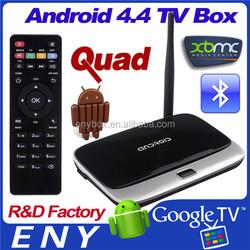 Top Sale Android 4.4 Quad Core Rk3188 Tv Box Bluetooth Wifi Smart Tv Box