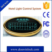 Hotel room lighting control system with light control box, small controller