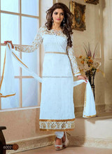 Latest Bollywood Party Wear Designer Embroidered Wedding Salwar Suit .R6594