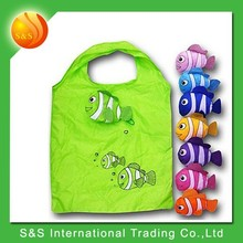Reusable tote fish shape portable durable foldable shopping bag