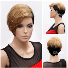 W3790 Popular indian women hair wig, Beautiful lace front wig