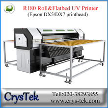1800*120mm Roll and Flat bed UV large format printer with EPS Dx5 printhead