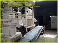 1111 90kw vertical ring die auto lubricate system wood pellet mill machine for sale