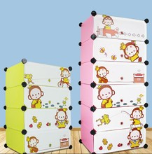 Home furniture general use easy assemble girl bedroom shoe cabinet cartoon with cover