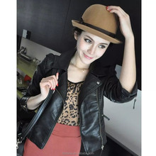 fashion girls Motorcycle genuine leather jacket with printing sheepskin leather jacket and ladies biker lambskin jacket