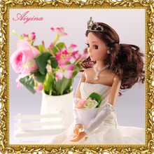 Wholesale custom high quality new design 15 inch fashion cyberskin doll with nice make up
