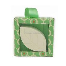 New designer paper box green tea leaf bath bomb
