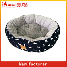 Newest design luxury circular fleece cushion dog beds wholesale dog house